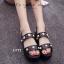 รองเท้า Platform แต่งมุก (สีดำ) thumbnail 2