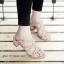รองเท้าส้นตันแต่งอะไหล่ Style Zara (สีตาล) thumbnail 1