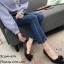 รองเท้าคัทชูซาตินแต่งโบว์ (สีดำ) thumbnail 3
