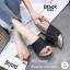 รองเท้าแตะส้นเตารีดแต่งกลิตเตอร์ (สีดำ) thumbnail 4