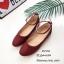รองเท้าคัทชูส้นแบนถักเปีย (สีแดง) thumbnail 4