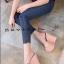 รองเท้าส้นเตารีดสวมแต่งหมุด (สีชมพู) thumbnail 3