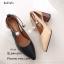 รองเท้าคัทชูคล้องอะไหล่มุก (สีดำ) thumbnail 7