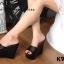 รองเท้า Platform สไตล์เกาหลี (สีดำ) thumbnail 3