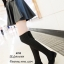 รองเท้าบูทยาวตัดต่อสไตล์ถุงเท้า (สีดำ) thumbnail 1