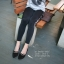 รองเท้าคัทชูหัวแหลมแต่งโบว์ (สีน้ำตาล) thumbnail 5