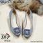 รองเท้าคัทชูส้นตัน Manolo Blahnik Style (สีครีม) thumbnail 8