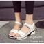 รองเท้าส้นเตารีดลำลองแต่งเมจิกเทป (สีดำ) thumbnail 6