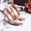 รองเท้าคัทชูซาตินอะไหล่ทอง (สีครีม) thumbnail 1