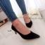 รองเท้าคัทชูเรียบทรงV (สีดำ) thumbnail 2