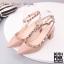 รองเท้าคัทชูส้นตันหนังเงาสไตล์ Valentino (สีชมพู) thumbnail 4