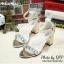 รองเท้าส้นตัน MIUMIU (สีทอง) thumbnail 1