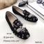 รองเท้าคัทชูทรงสวมปักลายผึ้ง Style Gucci (สีดำ) thumbnail 1