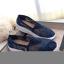 รองเท้าผ้าใบลูกไม้ถักเสริมส้น (สีดำ) thumbnail 7