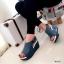 รองเท้าลำลองหนังนิ่มเมจิกเทป (สีครีม) thumbnail 9