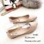 รองเท้าคัทชูส้นแบนแต่งสายรัดคริสตัล (สีดำ) thumbnail 6