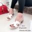 รองเท้าแตะสวมเสริมส้น Style Hermes (สีครีม) thumbnail 7