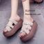 รองเท้าลำลองส้นเตารีดแต่งเข็มขัด (สีดำ) thumbnail 4