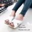 รองเท้าส้นเตารีดสวมไข้ว (สีครีม) thumbnail 5
