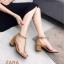 รองเท้าส้นตัน Style Zara T-Strap (สีแดง) thumbnail 5