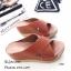 รองเท้าส้นเตารีดสวมไข้ว (สีครีม) thumbnail 12
