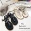 รองเท้าแตะแต่งเพชรสไตล์ CC (สีดำ) thumbnail 11