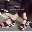 รองเท้าส้นเตารีดลำลองแต่งเมจิกเทป (สีดำ) thumbnail 2