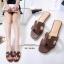 รองเท้าแตะ Style Hermes ฉลุลาย (สีดำ) thumbnail 15