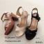 รองเท้าส้นตันสายไขว้สไตล์ลำลอง (สีดำ) thumbnail 19