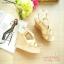 รองเท้าส้นเตารีดหน้าไข้ว (สีครีม) thumbnail 2