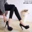 รองเท้าคัทชูส้นสูงหุ้มส้นแบบเรียบ (สีดำ) thumbnail 4