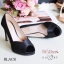 รองเท้าคัทชูซาตินเปิดเท้า (สีดำ) thumbnail 3