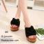 รองเท้าแตะสวมแต่งโบว์สีดำ thumbnail 1