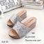 รองเท้าแตะส้นเตารีดแต่งกลิตเตอร์ (สีดำ) thumbnail 5
