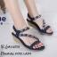 รองเท้าแตะเสริมส้นแต่งดอกไม้ (สีกรม) thumbnail 3