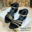 พร้อมส่ง : รองเท้าส้นตันสายคาดสอง (สีดำ) thumbnail 1