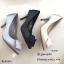 รองเท้าคัทชูซาตินแต่งดอกไม้ (สีเทา) thumbnail 10