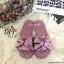 รองเท้าแตะโบว์สไตล์แฟชั่นเกาหลี (สีดำ) thumbnail 7