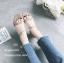 รองเท้าส้นเตี้ยสไตล์ลำลอง (สีเทา) thumbnail 2