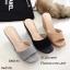 รองเท้าส้นเตารีดหนังกลับทรงสวม (สีดำ) thumbnail 9