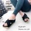 รองเท้าส้นเตารีดสวมไข้ว (สีครีม) thumbnail 7
