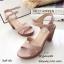 รองเท้าส้นตันสายไขว้สไตล์ลำลอง (สีดำ) thumbnail 14