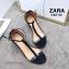 รองเท้าส้นตัน Style Zara T-Strap (สีแดง) thumbnail 11