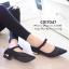 พร้อมส่ง : รองเท้าคัทชูกากเพชร (สีดำ) thumbnail 3