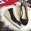 พร้อมส่ง : รองเท้าส้นเตารีดผ้ายีนส์ (สียีนส์ดำ) thumbnail 3