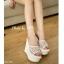 รองเท้า Platform สไตล์เกาหลี (สีขาว) thumbnail 3