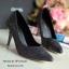 รองเท้าส้นสูงกลิตเตอร์ (สีดำ) thumbnail 1