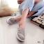 รองเท้าผ้าใบลูกไม้ถักเสริมส้น (สีดำ) thumbnail 6