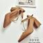 รองเท้าคัทชูส้นต้นแต่งสายรัด2ชั้น (สีดำ) thumbnail 8