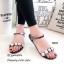 รองเท้าแตะยางแต่งคริสตัล (สีเงิน) thumbnail 4